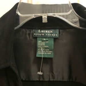 Ralph Lauren Jackets & Coats - Ralph Lauren Black suede wrap jacket